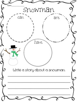 Winter & Winter Animals (Snowman, Penguins, & Polar Bears)