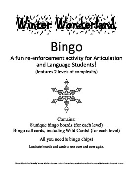 Winter Wonderland Bingo! A Speech and Language Re-enforcem