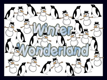 Winter Wonderland Bulletin Board Sign