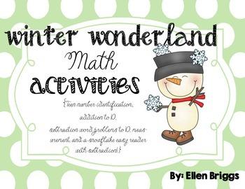Winter Wonderland {Kindergarten Math Activities}