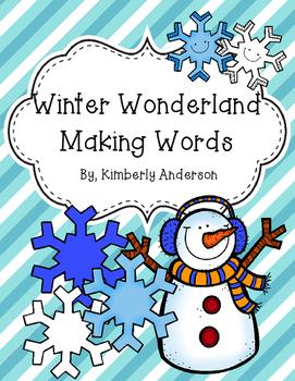 Winter Wonderland Making Words Activity