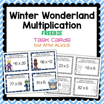 Multiplication Task Cards - Winter Wonderland