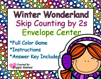 Winter Wonderland Skip Counting by 2s Envelope Center