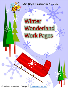 Winter Wonderland Work Pages