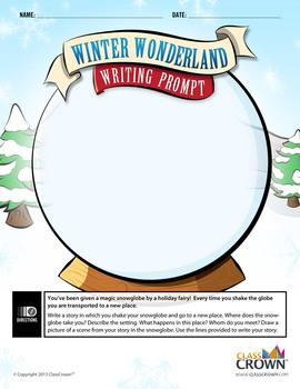 Winter Wonderland Writing Prompt - Snow Globe Story - Chri
