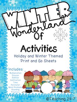 Winter Wonderland of Math Activities (No Prep)