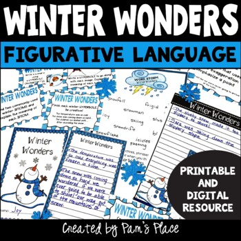 Winter Task Cards: Figurative Language, Couplets, and Analogies