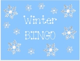 Winter Word BINGO