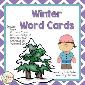 Winter Word Lists