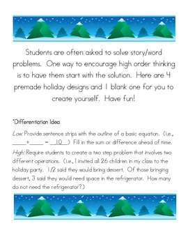 Winter Word Problem Solutions
