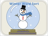 Winter Word Sort Activity (Nouns and Verbs)