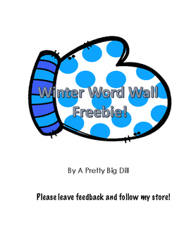 Winter Word Wall Freebie