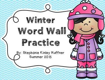 Winter Word Wall Practice