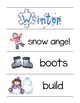 Winter Word Wall and Picture Dictionary