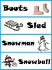 Winter Word Wall Cards with Illustrations