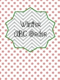 Winter Word Work - ABC Order