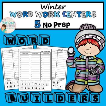 Winter Word Work Centers