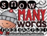 Winter Word Work Freebie Sample