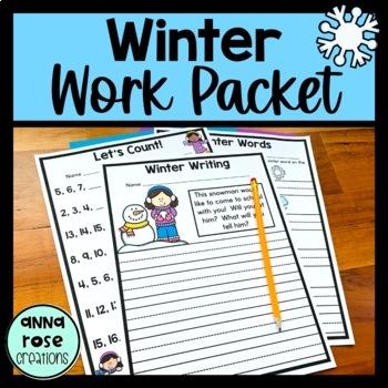 Winter Theme - Kindergarten - NO PREP