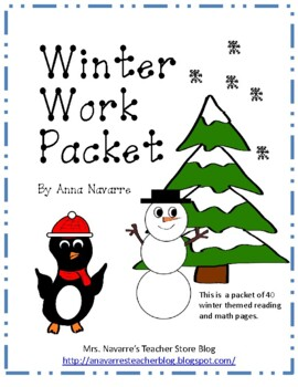Winter Work Packet