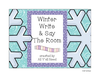 Winter Write and Say the Room