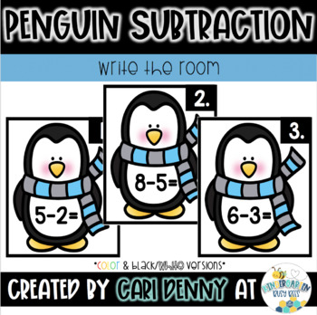 Winter Write the Room Subtraction