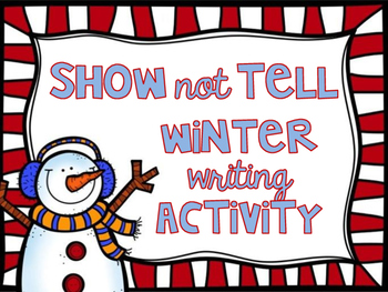 Winter Writing Activity and Craft (Show not tell)