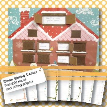 Winter Writing Center - Printable House, Writing Papers, W