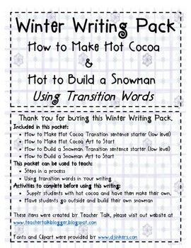 Winter Writing Pack K-2