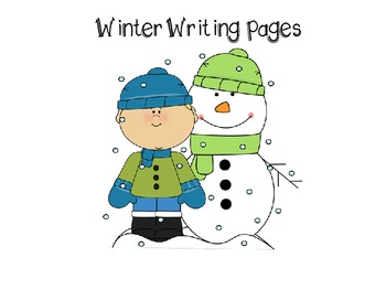 Winter Writing Pages