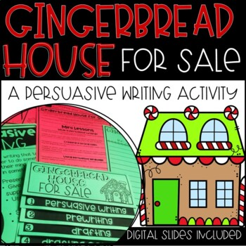 Winter Persuasive Writing and Craftivity-Gingerbread House