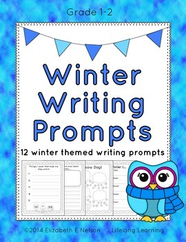 Winter Writing Prompts: Grades 1-2