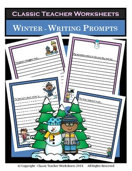 Writing Prompts - Winter - Make a Winter Book (Individual/