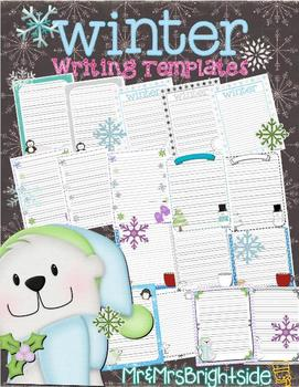 Winter Writing Templates - Journal Pages
