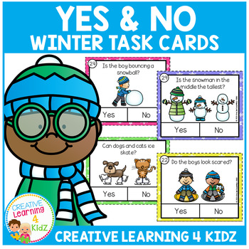 Winter Yes & No Picture Question Task Cards