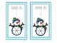 Winter activities: Snowman fraction printables