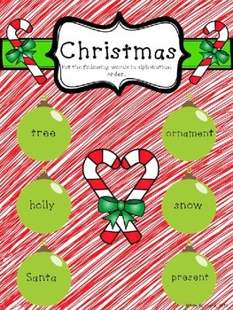 Winter and Christmas ABC Order