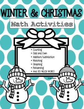 Winter and Christmas Math Activities NO PREP