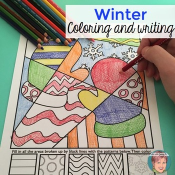 Winter Activities: Interactive and Pattern Filled Coloring