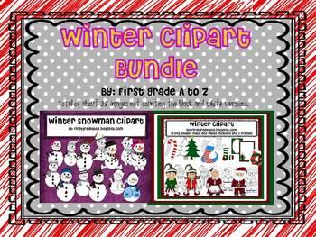 Winter clipart bundle