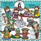 Winter kids Bundle- Color and B&W