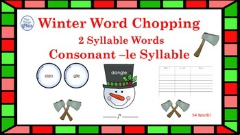 Winter -le Syllable Words