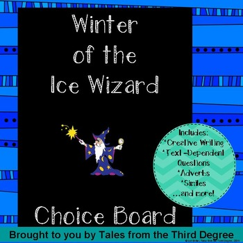 Magic Tree House Winter of the Ice Wizard Choice Board
