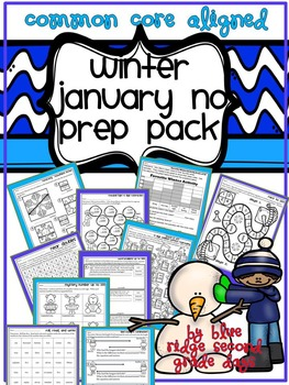 Winter or January No Prep Math Pack