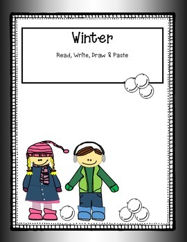Winter read, write, draw, & paste k-1