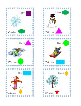 Winter theme I have, who has SHAPES cards