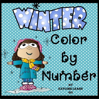 Winter themed Color by Number