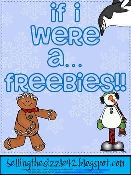 "Winter themed ""If I Were a ..."" FREEBIE!"