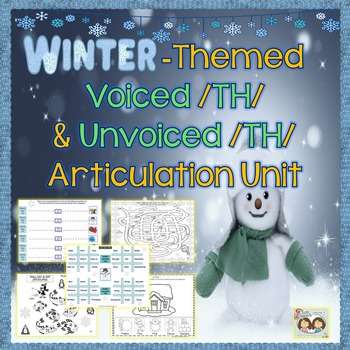 Speech Therapy: Winter-themed Voiced & Voiceless /TH/ Arti
