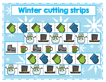Winter themed cutting strips